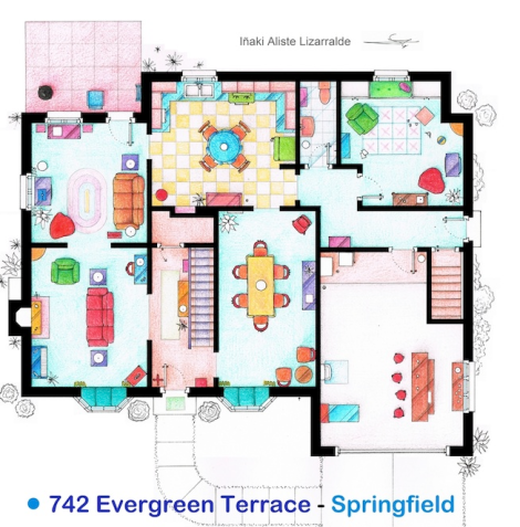 Simpsons House Floorplan