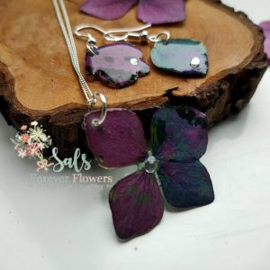 Hydrangea Collection Sterling Silver Necklace and Earrings