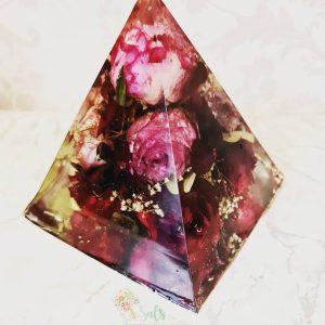 Large Pyramid Flower Preservation Ornament