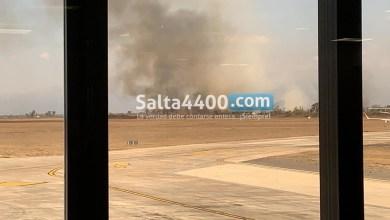 Photo of Incendio de pastizales en cercanías al aeropuerto