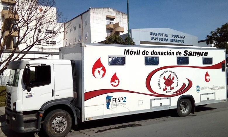 Movil de Donación de Sangre - Foto: salta.gov.ar