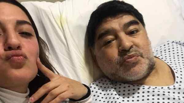 Jana Maradona y Diego