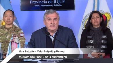 Photo of [AHORA] Jujuy vuelve a la fase uno tras confirmarse dos nuevos casos de coronavirus