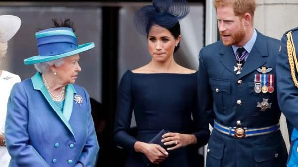 Reina Isabel, Meghan Markle y Príncipe Harry