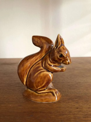 Pottery squirrel by Poole