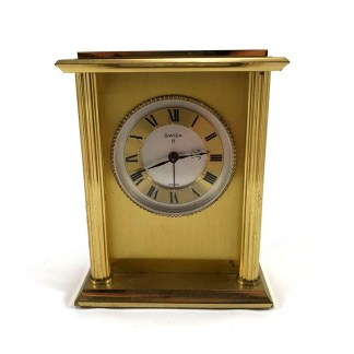 Brass carriage clock with alarm