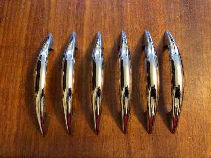 Set of six chrome handles