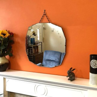 vintage twelve sided mirror