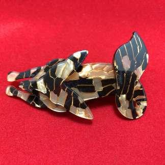 vintage Lucite fox brooch