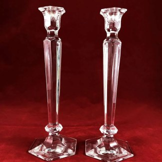 pair of crystal candlesticks