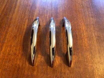 Set of three chrome handles