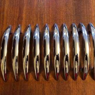 Set of ten chrome handles