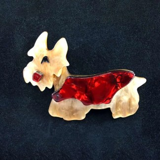 vintage Lucite dog brooch