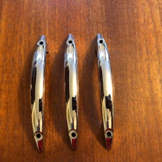 Set of three chrome handles