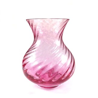 Vintage Caithness glass vase in pink