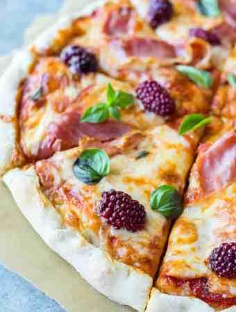 Prosciutto Blackberry Basil Pizza