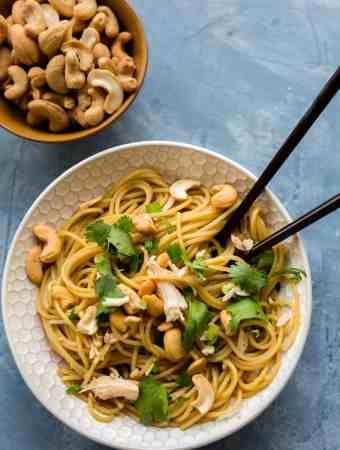 Sesame Cilantro Noodle Bowl
