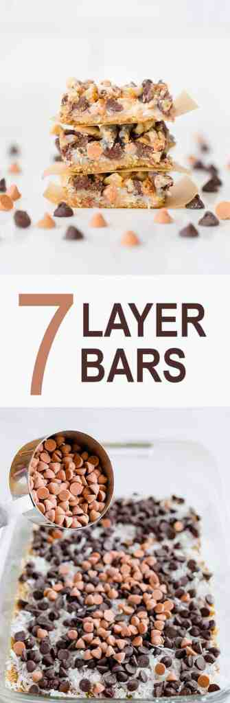 The most delicious 7 Layer Bars are right here! Takes minutes to assemble and seconds to devour!