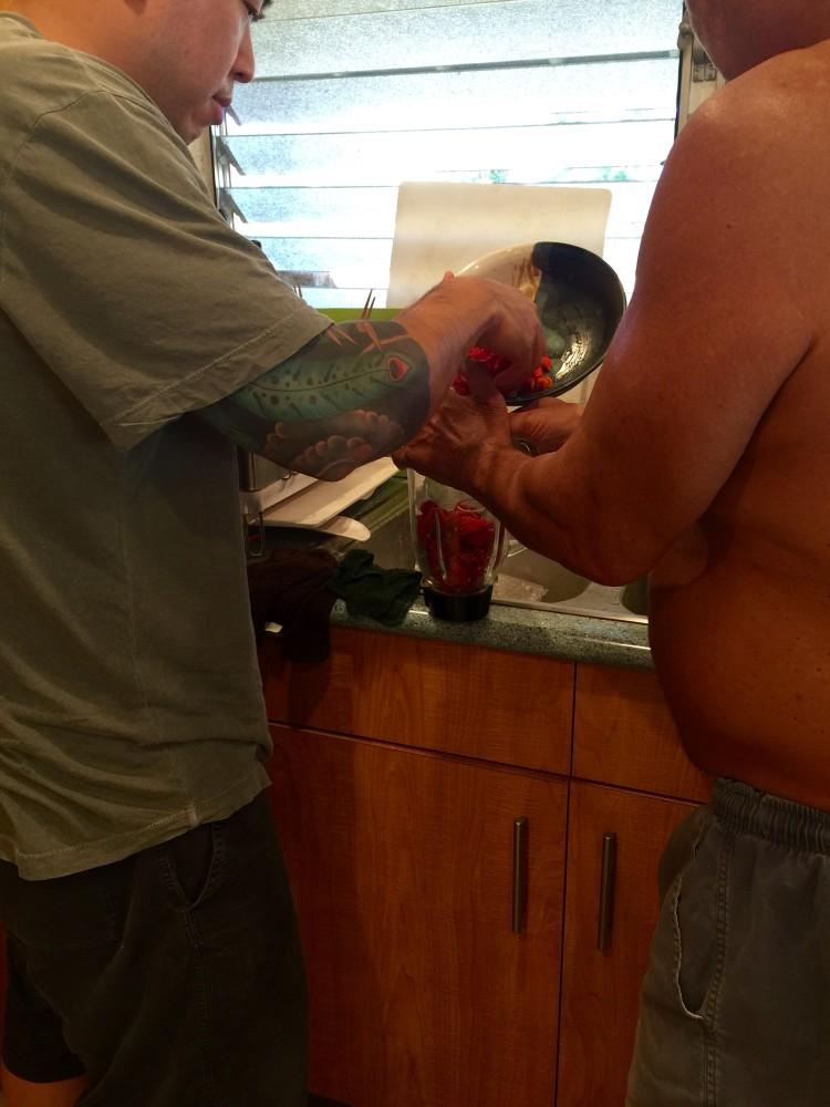Start of Chili Pepper Water