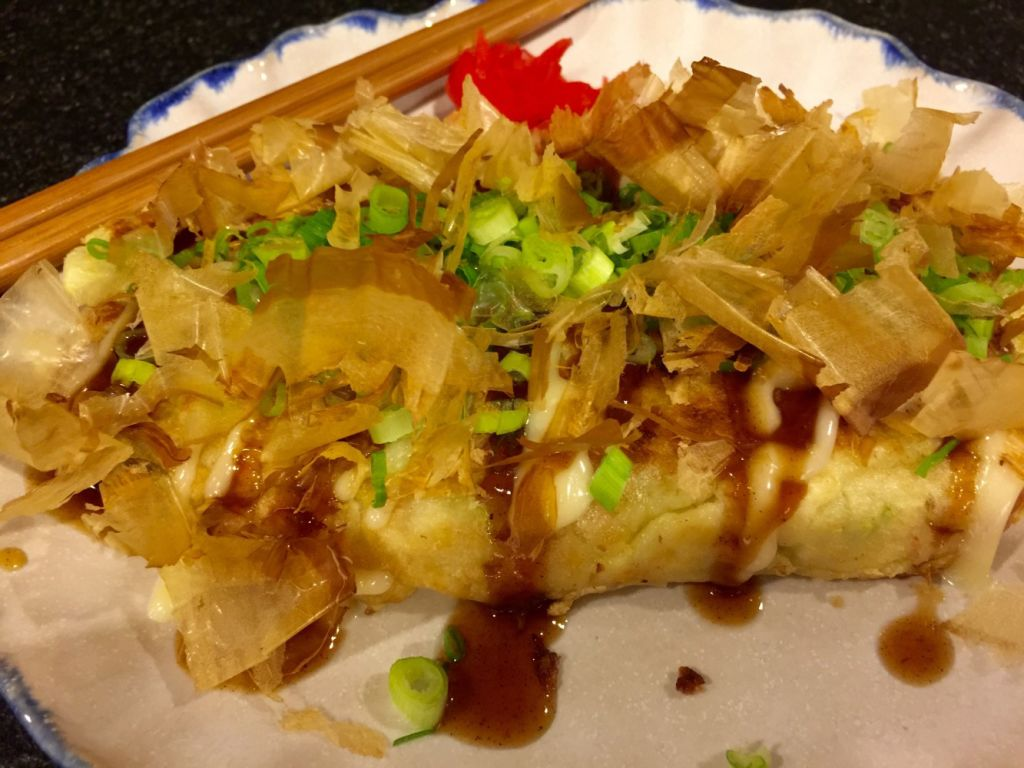 King crab okonomiyaki