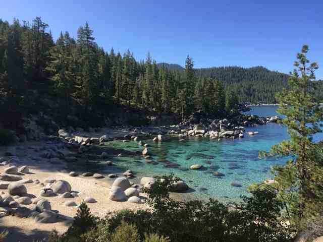 secret cove beach in lake tahoe