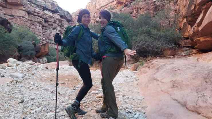 Gear and clothing for hiking to Havasu Falls