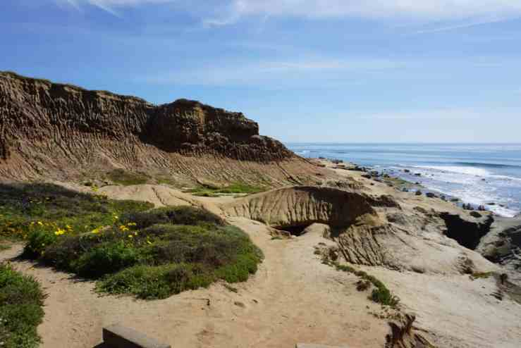 sandy trail along the ocean. Cabrillo National Monument has kid friendly hiking trails in San Diego