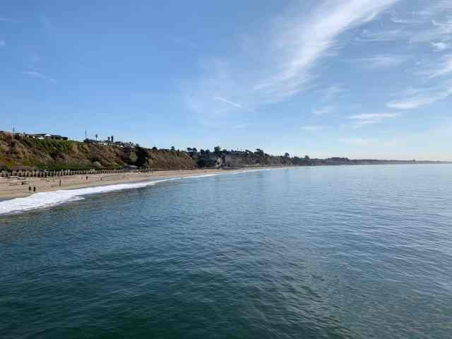 The beach from the cement ship pier in Santa Cruz CA.