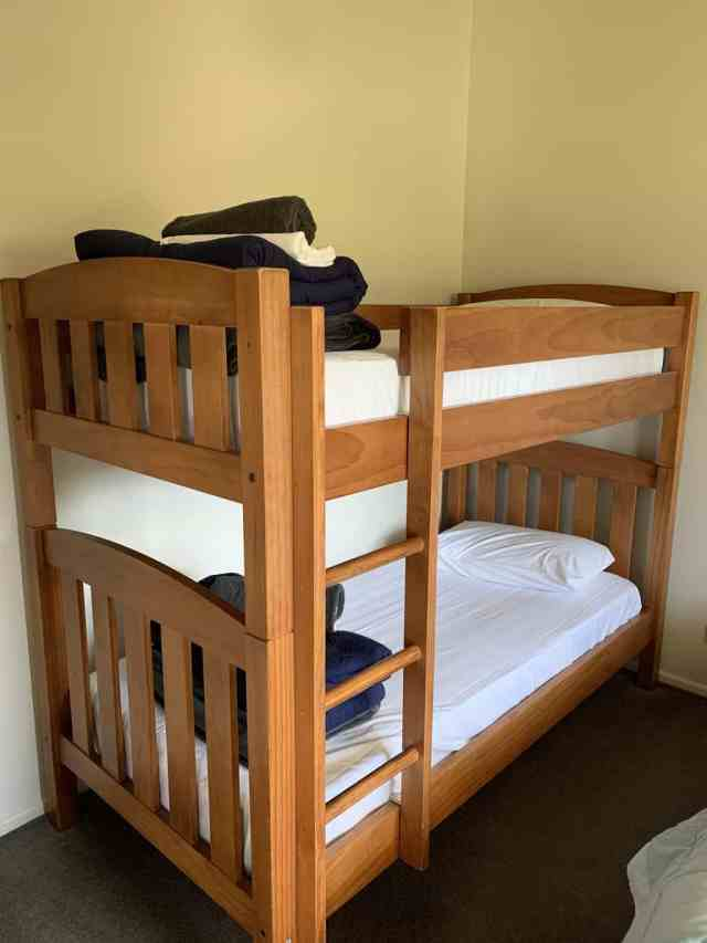 bunk beds at getaway te anu