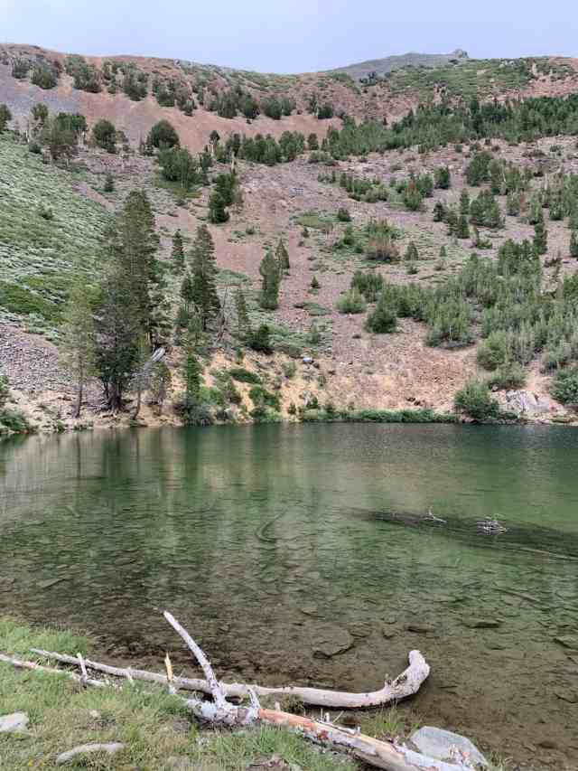 heart lake near cold water campground in mammoth lakes