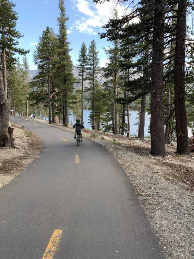 riding bikes in mammoth lakes is a must when camping