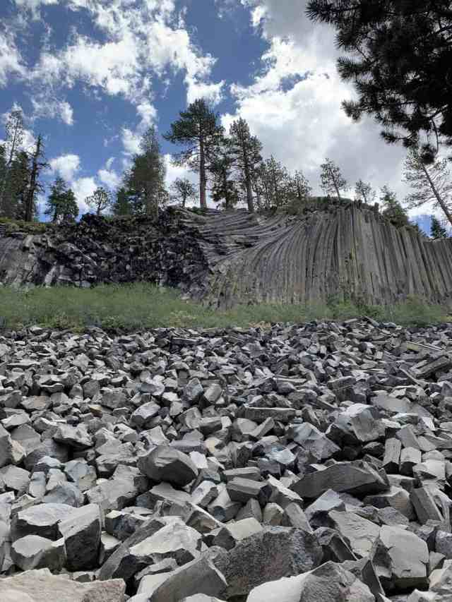 devils post pile national monument in mammoth