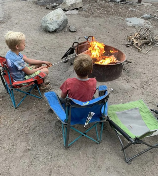 kids camping in mammoth lakes