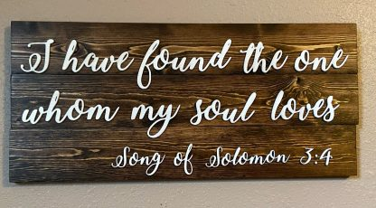 Love wall sign 1 Corinthians 13 laser engraved