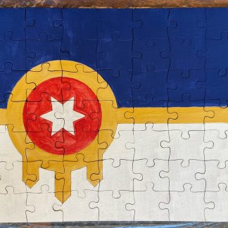 Tulsa flag laser engraved puzzle kit