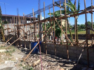this is our house when we started building it.