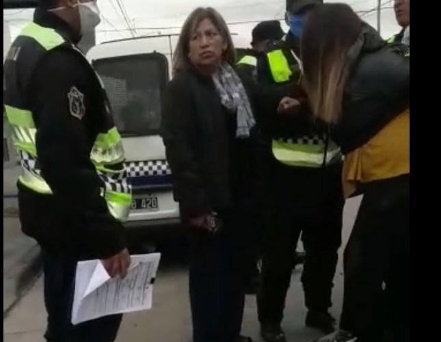 Detuvieron a una mujer por llevar menores de edad en el auto
