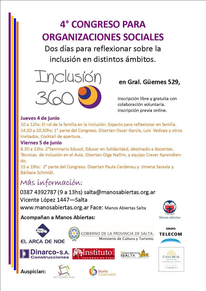 Salta vive la 4º edición del Congreso de Organizaciones Sociales del NOA