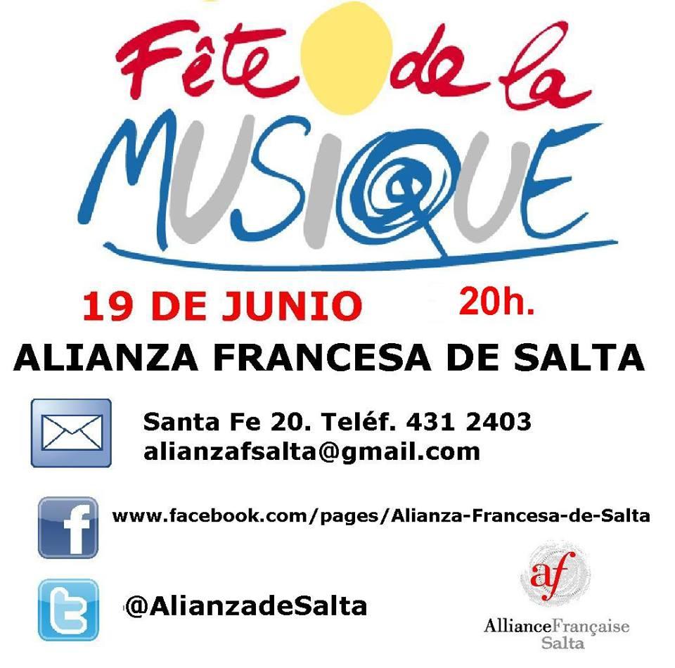 """La Alianza Francesa de Salta ofrece """"Fete de la Musique"""""""