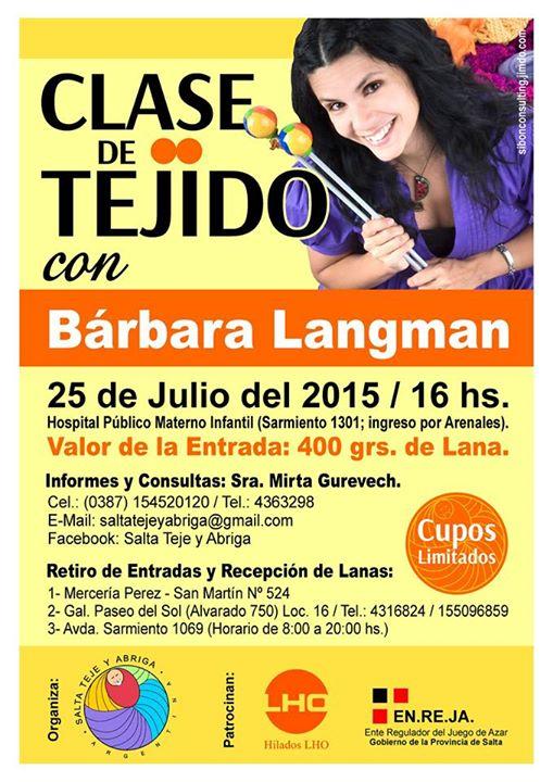 Clase de tejido con Barbara Langman