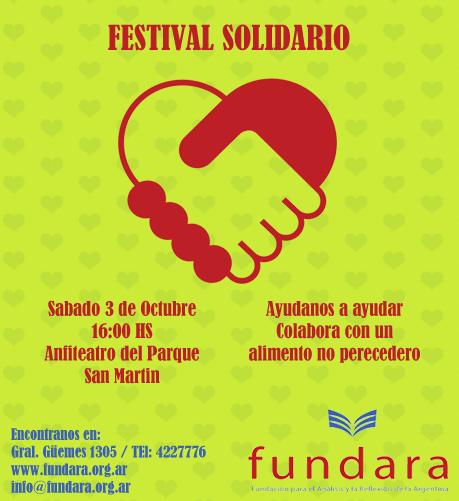 En Parque San Martin festival solidario organizado por Fundación Fundara