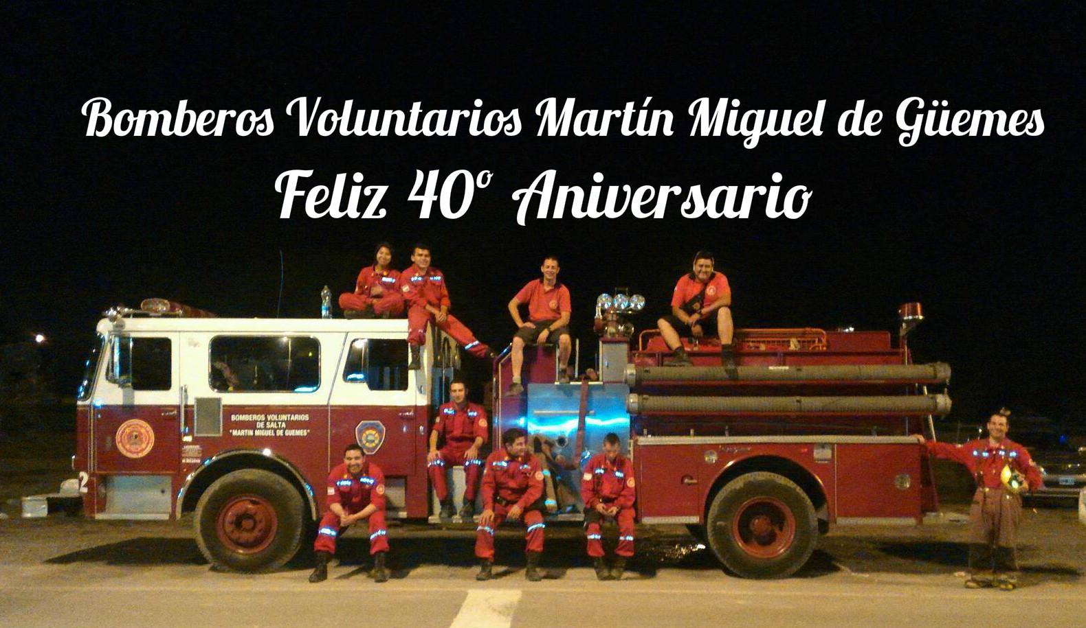 Bomberos Voluntarios Martin Miguel de Guemes celebra su 40º aniversario