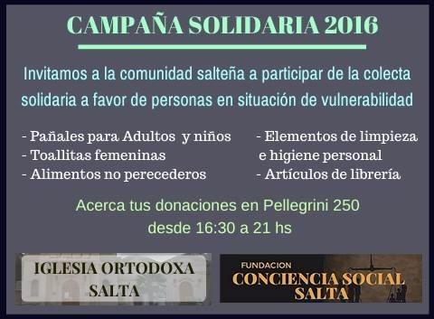 Fundación Conciencia Social Salta junto a la Iglesia Ortodoxa unidos por los que menos tienen