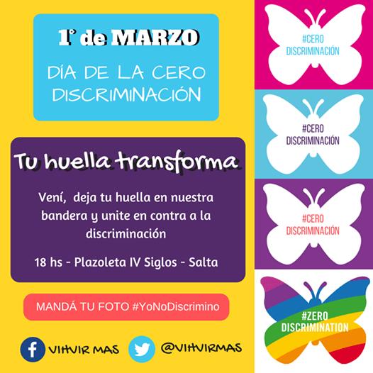 1º de Marzo: Dia de #CeroDiscrimación
