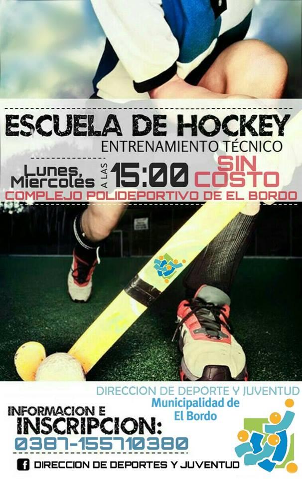 El Bordo lanza su primera Escuela de Hockey Municipal