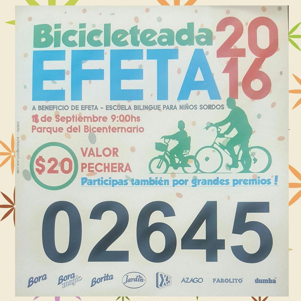 Se viene la bicicleteada de Efeta en Parque del Bicentenario
