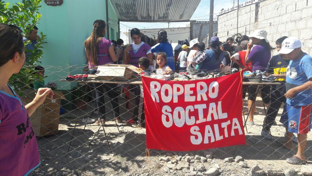 El Ropero Social Salta realizó una exitosa jornada solidaria en La Merced