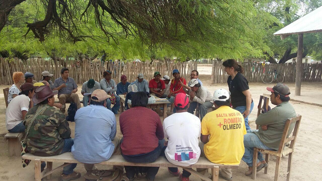 Encuentro Zonal de Caciques de la etnia Wichi en el Paraje Los Baldes
