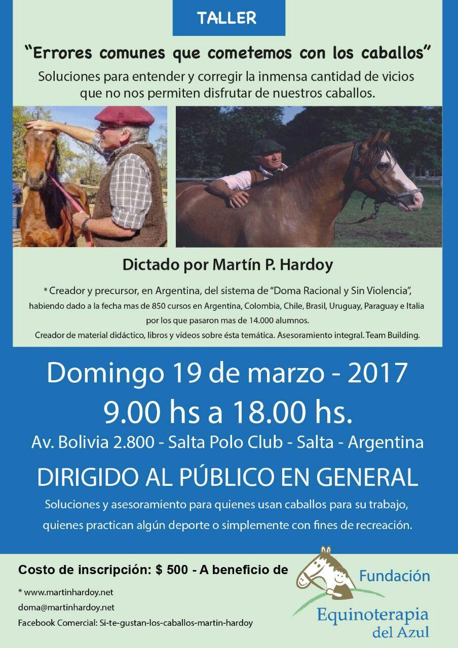 Martín Hardoy reconocido etólogo llegó a la ciudad para hablar de caballos