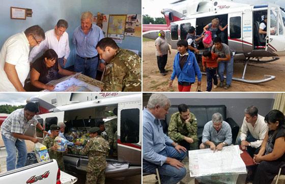 Las acciones para contrarrestar la emergencia continúan en las zonas afectadas por las lluvias